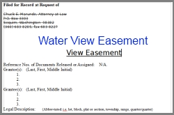 Water View Easement