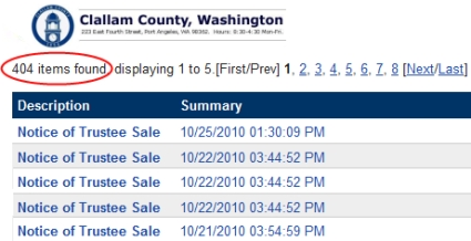 Sequim Foreclosures