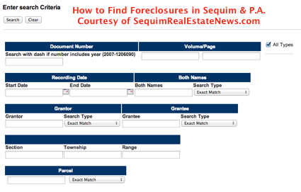 Finding Sequim Foreclosures