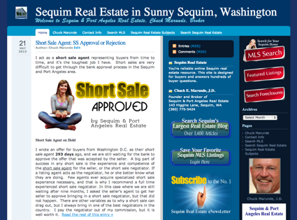 Sequim Real Estate Blog Upgrade