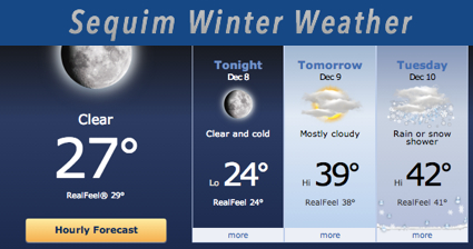 Sequim Winter Weather