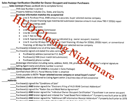 HUD Closing Requirements