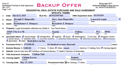 Should I Submit a Backup Offer on a Pending Transaction?